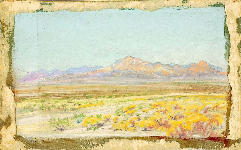 Howard Russell Butler, Desert Landscape (#69), n.d., pastel on paperboard, Smithsonian American Art Museum, Gift of Howard Russell Butler, Jr., 1978.65.4