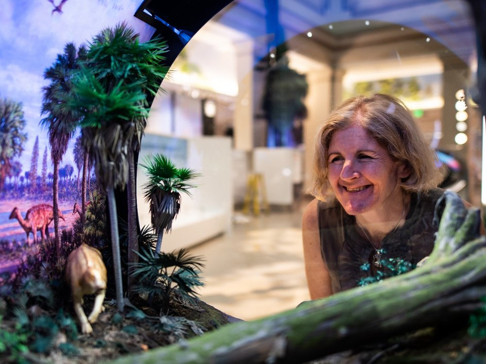 """Siobhan Starrs joined the """"David H. Koch Hall of Fossils – Deep Time"""" team in 2009. She spent a decade working on the exhibit, which opened on June 8. (Smithsonian Institution)"""