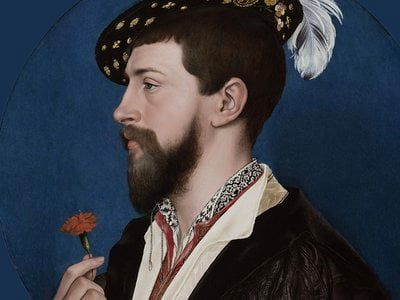 Hans Holbein the Younger,Portrait ofSimon George of Cornwall(detail), circa 1535–40