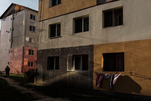 Street scene in Beclean, Romania thumbnail
