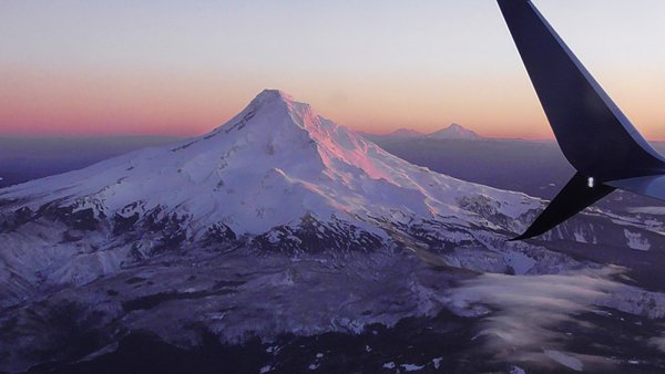 Flying home to Portland over Mt Hood thumbnail