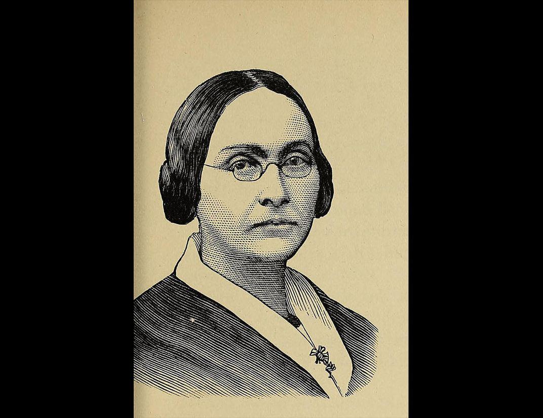 Black and white portrait of Graceanna Lewis.