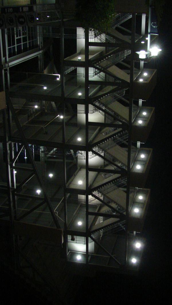 Empty football stadium stairwell thumbnail