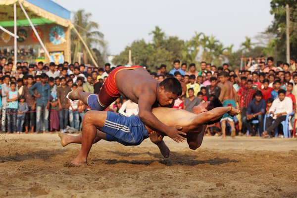 Traditional Kusti (Wrestling) competition of tribal people thumbnail