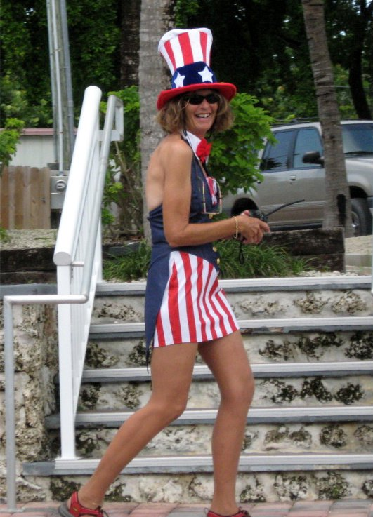 Female Version of Uncle Sam during Fourth of July Weekend in Key Largo, Florida thumbnail