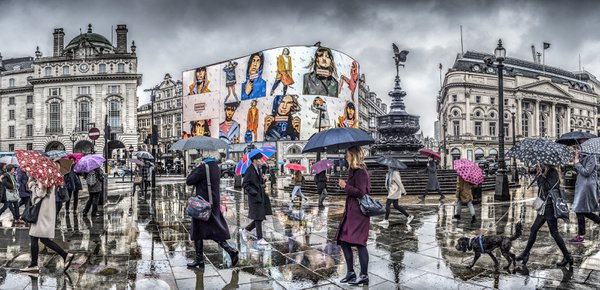Piccadilly Circus in the Rain thumbnail
