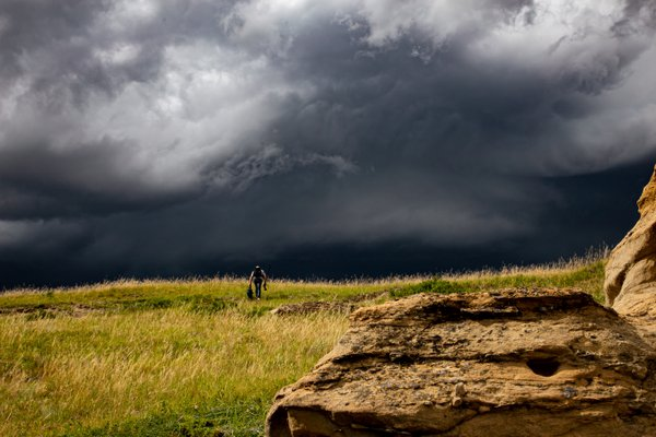 Impending Storm over Writing on Stone thumbnail