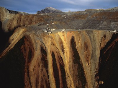 The 13,000-foot high Grasberg mine contains the largest single gold reserve in the world, and the largest copper deposit as well.