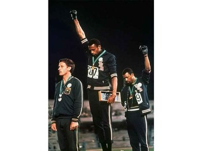 """""""Even the greatest things in the world need attention when they're not as strong as they could be. It was a cry for freedom,"""" says Tommie Smith of his silent act at the 1968 Olympics."""