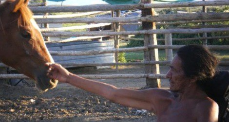 """Stanford Addison, the Arapaho horse whisperer featured in the film, """"Silent Thunder."""""""