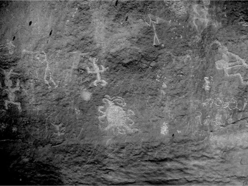 Eclipse petroglyph
