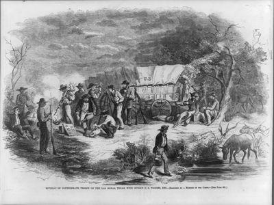 Confederate Troops on the Las Moras, Texas