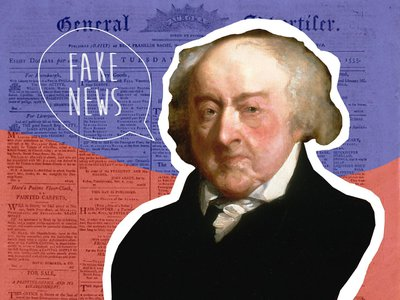 """John Adams didn't literally call the Philadelphia Aurora (also known as the Aurora General Adviser) """"fake news,"""" but he was not pleased by the way he was often depicted in it."""