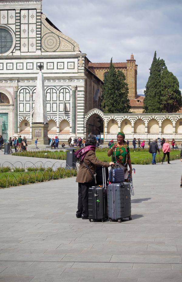 Tourist with big baggage thumbnail