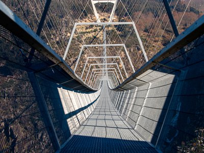 The 516 Arouca surpasses the previous record holder—Switzerland's 1,621-foot Charles Kuonen Suspension Bridge—by about 70 feet.