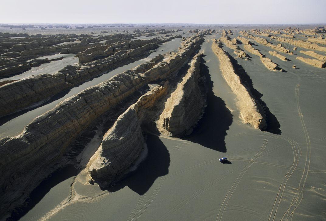 Yardangs in the Gobi Desert Credit: George Steinmetz/Corbis