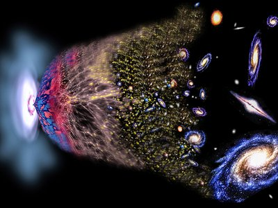 An artist's rendition of the Big Bang.
