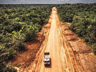 Ecologists fear that repaving the highway known as BR-319 will open new sections of the Amazon to catastrophic deforestation.