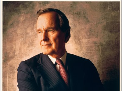 George H.W. Bush (1924-2018). Photograph by William Coupon.