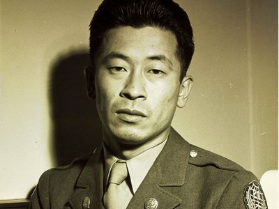 U.S. Army Air Force technical sergeant Ben Kuroki, who served in the Europe and Pacific theaters during World War II.