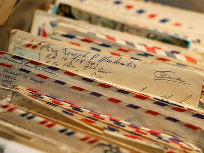 Some of Mrs. Jerry Davis' students saved letters from their Vietnam War pen pals, which they donated to the American History Museum on November 14.