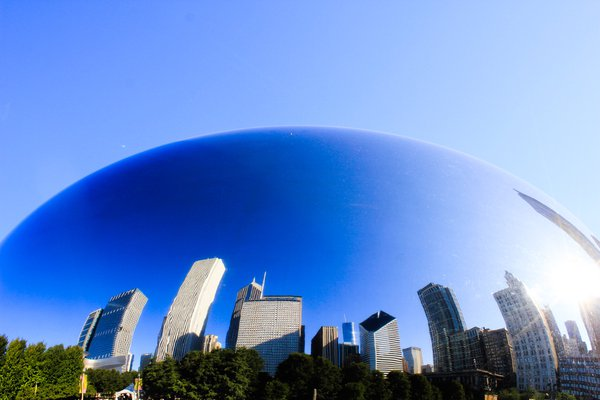 City of Chicago's reflection upon Cloudgate  thumbnail