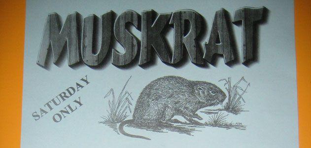 Muskrat on the menu