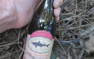 A treasure! This beer lies hidden in the woods, six inches under, in Shasta County, CA. Can you find it?