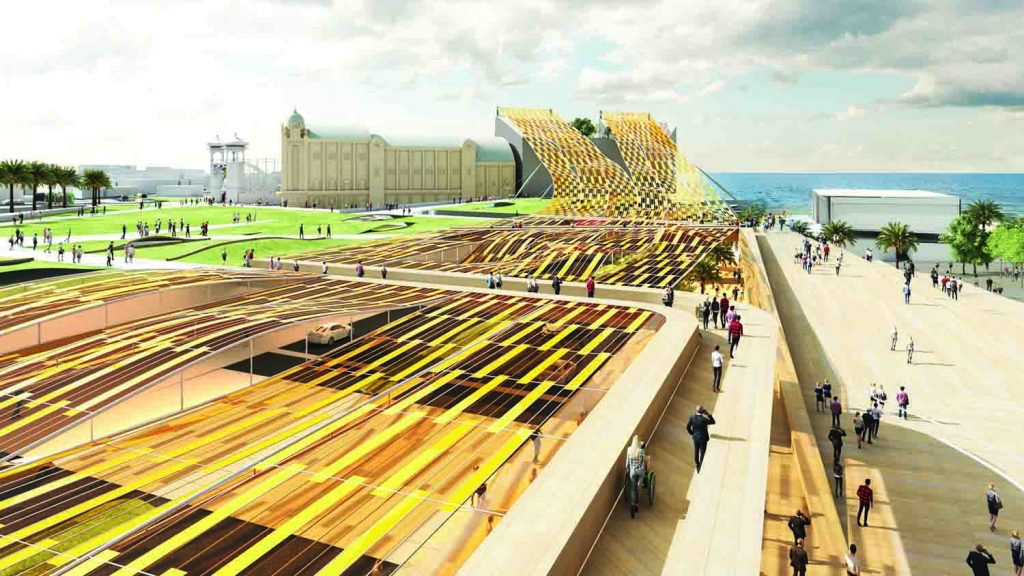 This Golden Canopy Could Power 500 Homes