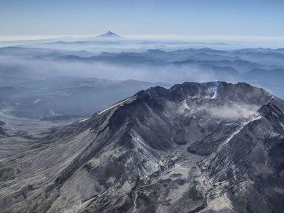 Mount St. Helens in 2018. (USGS)