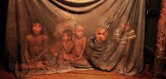 Cambodia children with malaria