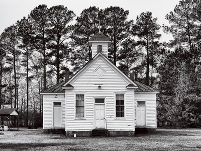 Built in 1920, this Rosenwald School in Hertford County, North Carolina, was later acquired by the Pleasant Plains Baptist Church and has served as a community center and fellowship hall.