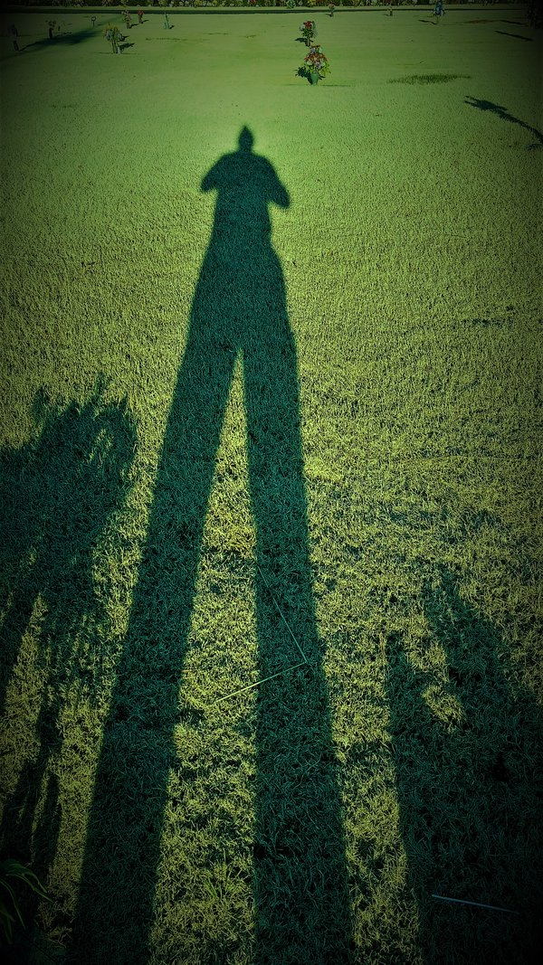 my long shadow of sorrow at my Mother's and Nephew's gravesite thumbnail