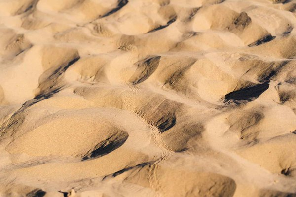 Tracks weaving through the Mesquite Dunes in Death Valley thumbnail
