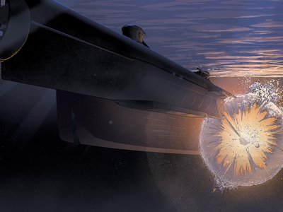 The HL Hunley pressed its torpedo against the side of the USS Housatonic until it detonated.
