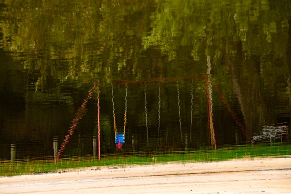 Swing Set Impressionist Reflection thumbnail