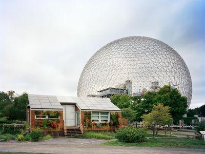 Buckminster Fuller's Geodesic Dome, 1967 World Exposition, Montreal