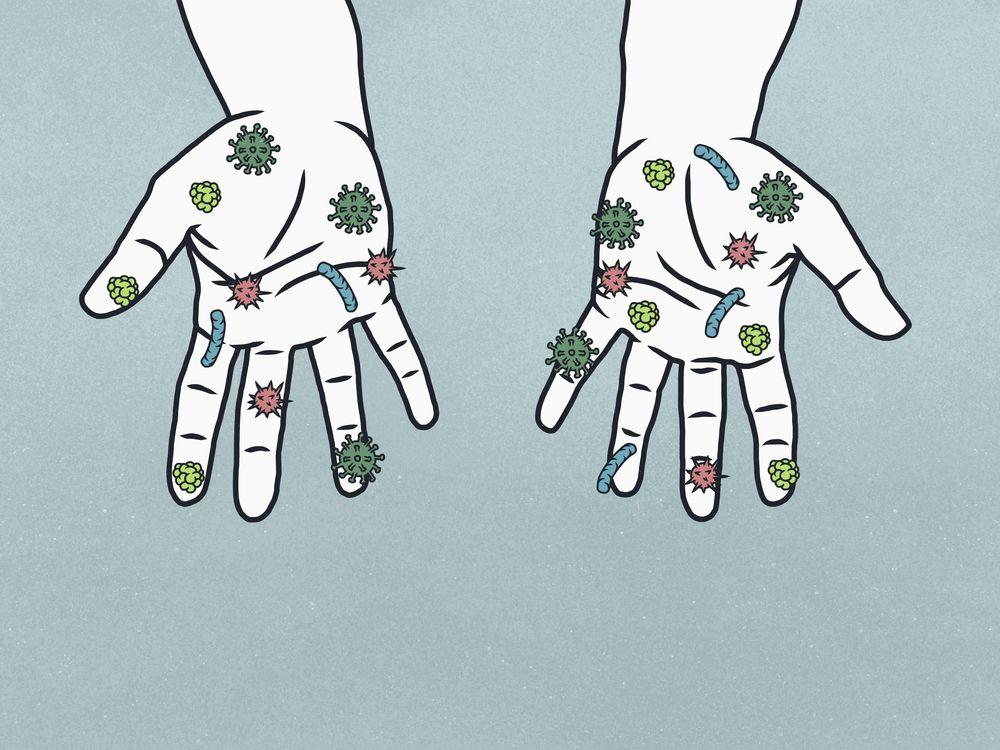 Bacteria hands