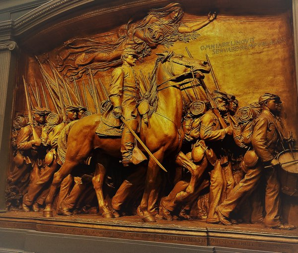 Civil war relief at National Gallery of Art Museum in Washington DC thumbnail