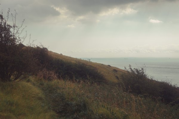 Old friends walking the trails at the White Cliffs of Dover  thumbnail