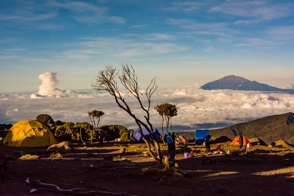 Cloud Column and Mt. Meru From the Slope of Mt. Kilimanjaro thumbnail