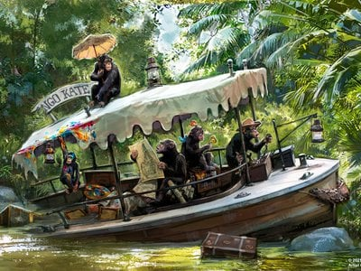"""Disney will remove a scene featuring a """"shrunken head salesman"""" and add a new one centered on chimpanzees riding an abandoned boat."""