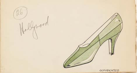 Design by Henry Dreyfuss for Delman Shoe Company, 1929