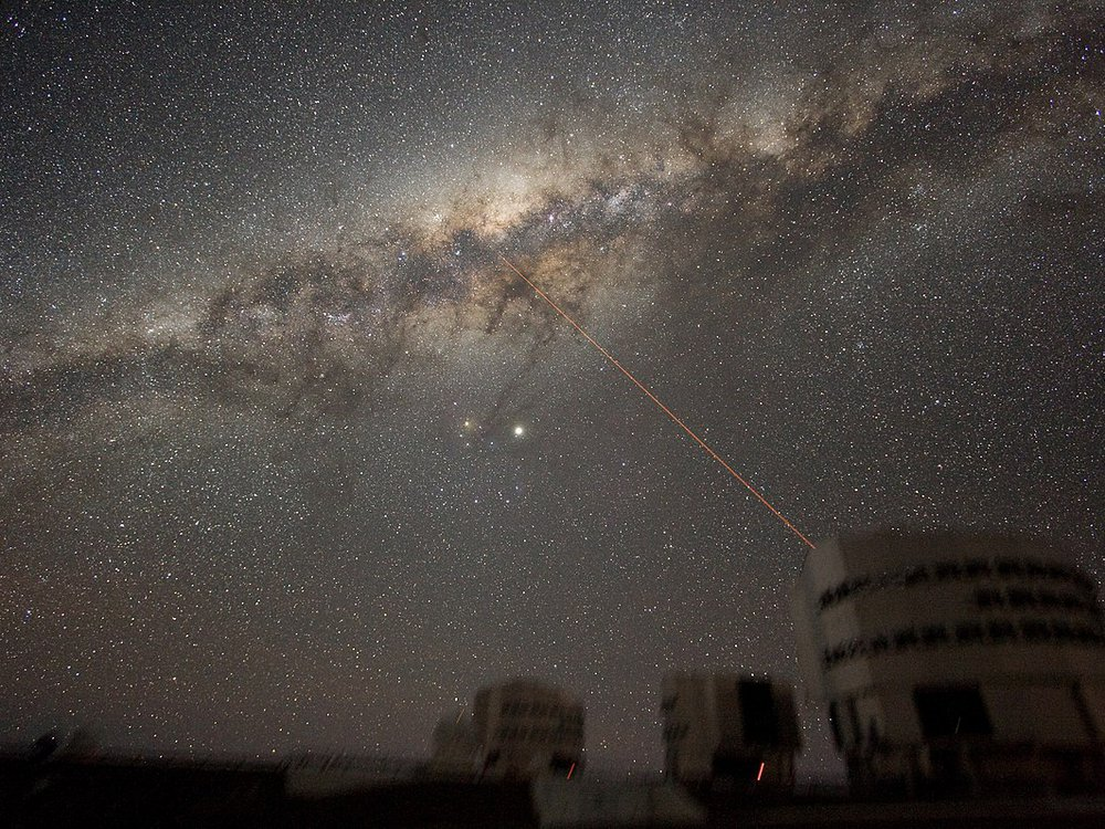 Image of the night sky above Paranal on 21 July 2007, taken by ESO astronomer Yuri Beletsky.
