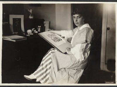Nina Allender created political cartoons for The Suffragist newspaper.