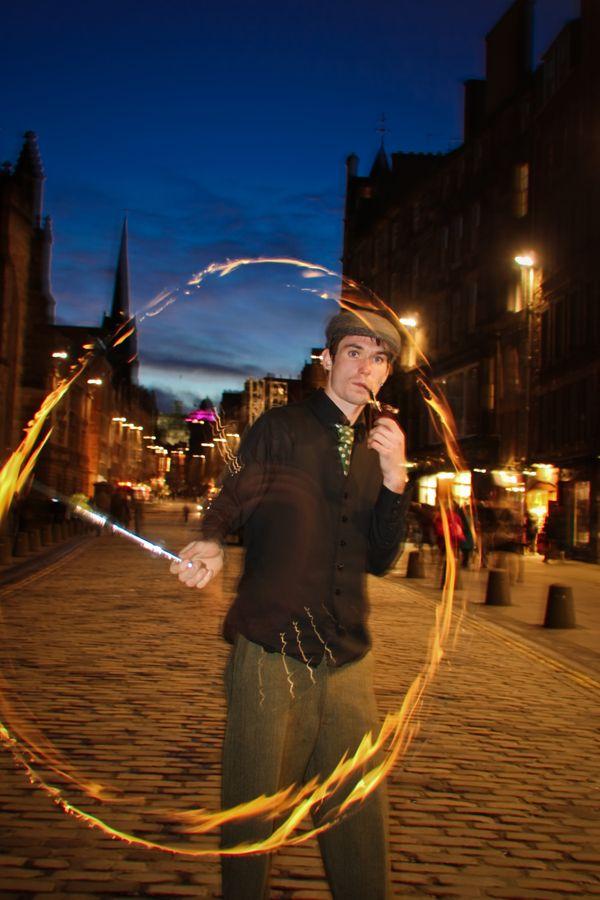 juggler smoking and practicing thumbnail