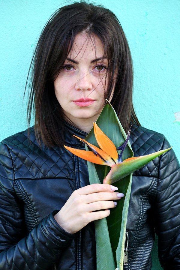 Portrait of Julia with a flower thumbnail