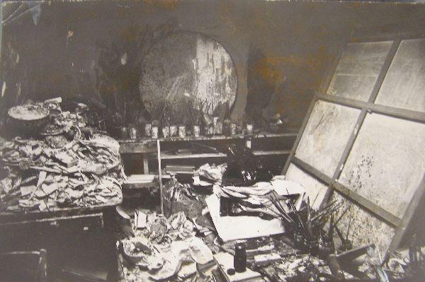 Francis Bacon's Studio, photograph, c. 1975