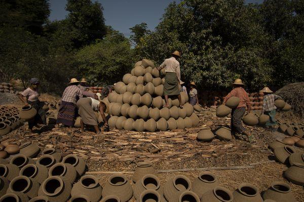 Yandabo Village Pottery Baking Preparation Photo taken by Nikon D500 thumbnail