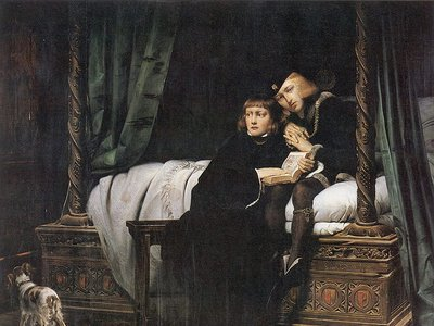 Paul Delaroche's 1831 depiction of the princes in the Tower, Edward V and Richard, Duke of York